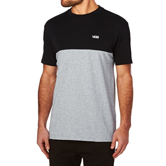 d9aebe6914 Vans Colour Block Short Sleeve T-Shirt - Black Athletic Heather
