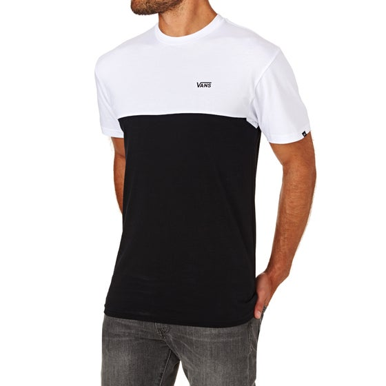 4ecd4406237806 Vans Colour Block Short Sleeve T-Shirt - White Black