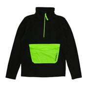 O Neill Rails Half Zip Boys Fleece - Black Out