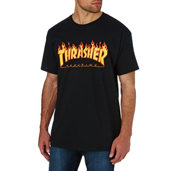 a7564ddc75e0c Thrasher. Thrasher Flame Logo Short Sleeve T-Shirt - Black
