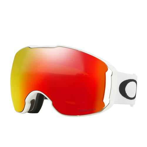 Oakley Airbrake XL Snow Goggles - Polished White ~ Prizm Torch Iridium and Prizm Rose