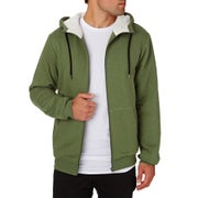 SWELL Mens Drifter Sherpa Zip Hoody - Military