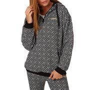 Adidas Originals All Over Print Womens Pullover Hoody - White/black