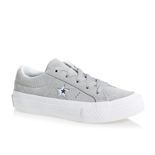 Converse One Star Boys Shoes - Wolf Grey/white/navy