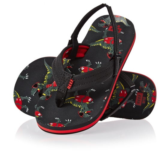 9b4e02df5bb Reef Ahi Kids Sandals - Red T Rex