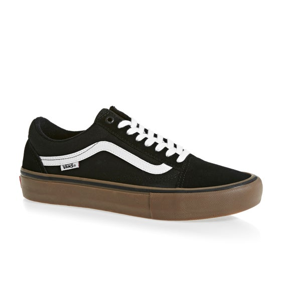 4d7fca94a9 Vans Old Skool Pro Shoes - Black White Medium Gum