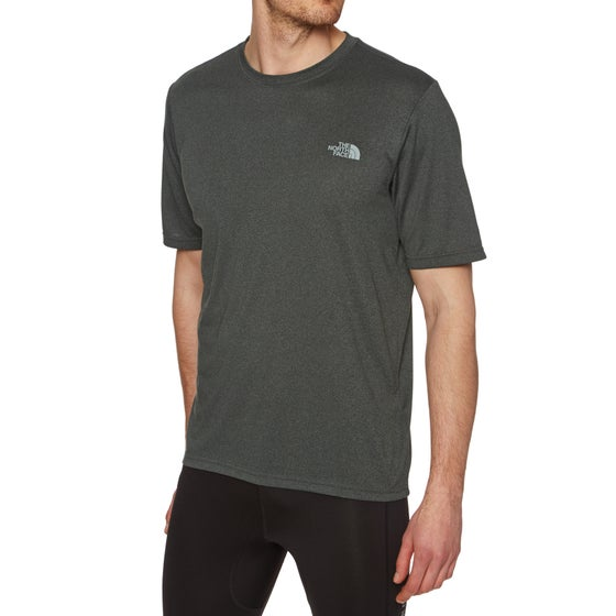 North Face Reaxion Amp Crew Running Top - TNF Dark Grey Heather ffeed8a28736