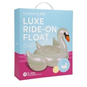 Sunnylife Rideon Float Pearl Swan Womens Inflatable Lilo