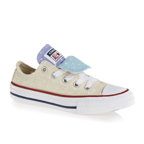ea5ece7f052efb Converse Chuck Taylor All Star Double Tongue Ox Junior Girls Shoes ...