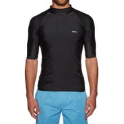 SWELL Solid Short Sleeve Raglan Rash Vest - Black
