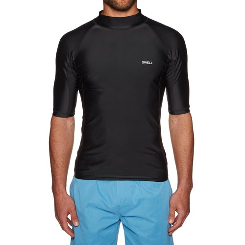 SWELL Solid Short Sleeve Raglan Rash Vest