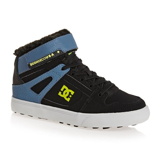 size 40 f753a 3f032 Chaussures DC Pure High Top WNT EV - Black Blue Green