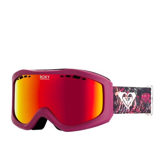 0b0de49ac9f Roxy Sunset ML Womens Snow Goggles - Four Leaf Clover Zebratree