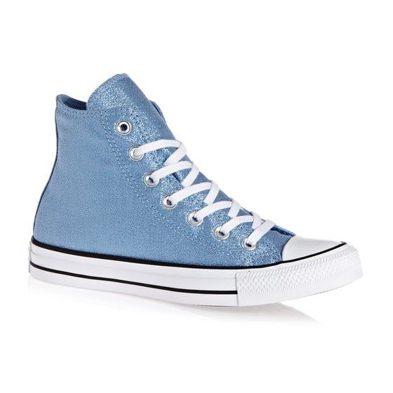 innovative design fa7e7 034b7 Chaussures Femme Converse Chuck Taylor All Star Hi - Light Blue White Black