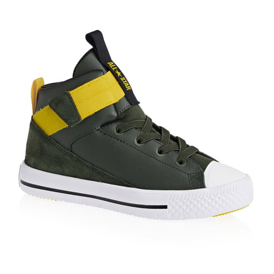 c2310fcad16e Converse. Converse Chuck Taylor All Star High Street Lite Hi Boys Shoes -  Utility Green White