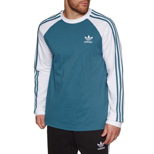 Adidas Originals 3-Stripes Long Sleeve T-Shirt available from Surfdome d94d57b2fca