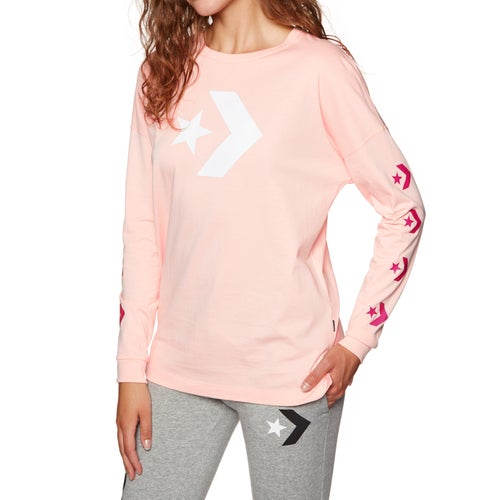 98c00a4aa8a7 Converse Star Chevron Womens Long Sleeve T-Shirt available from Surfdome