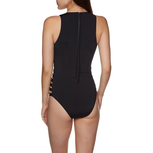Seafolly Active Multi Strap High Neck Maillot Womens Swimsuit