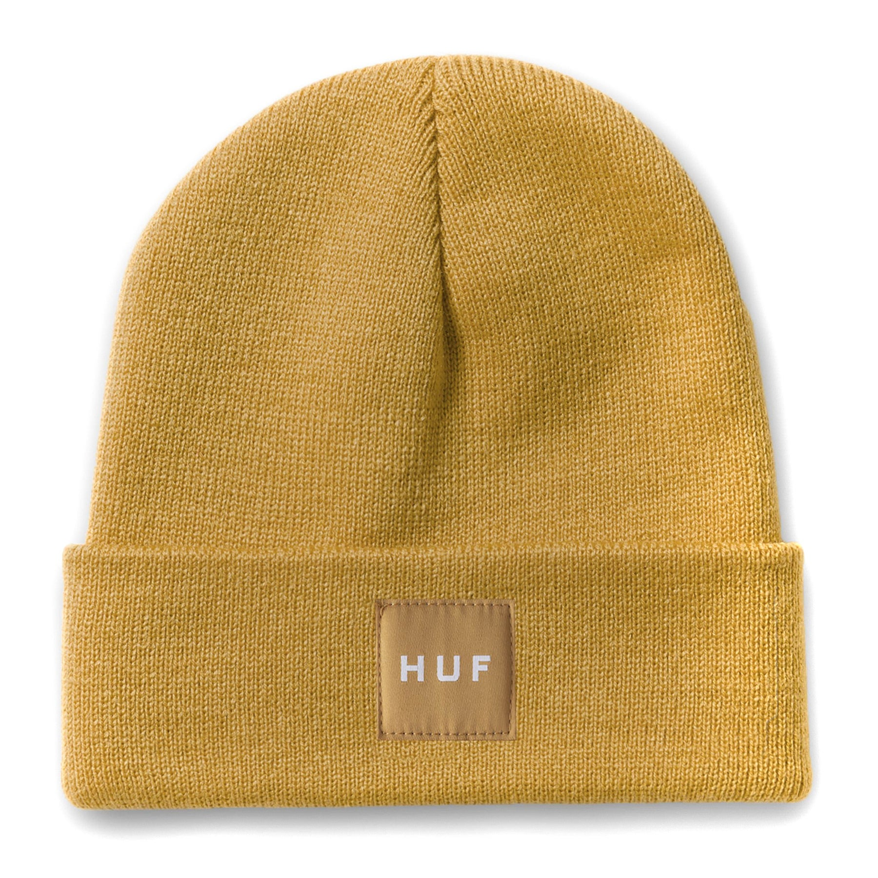 258e15360414 Huf Box Logo Mens Headwear Beanie Hat - Honey Mustard One Size | eBay