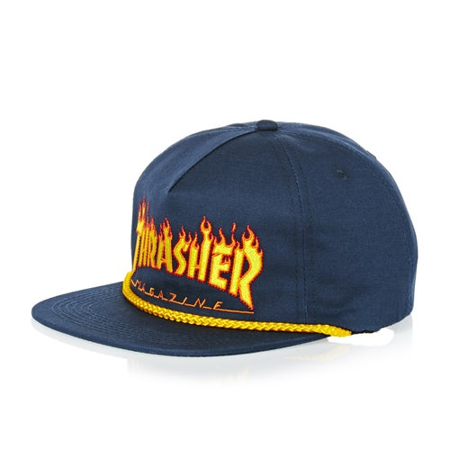 Thrasher Flame Rope Snapback Cap available from Surfdome de4a478de6a
