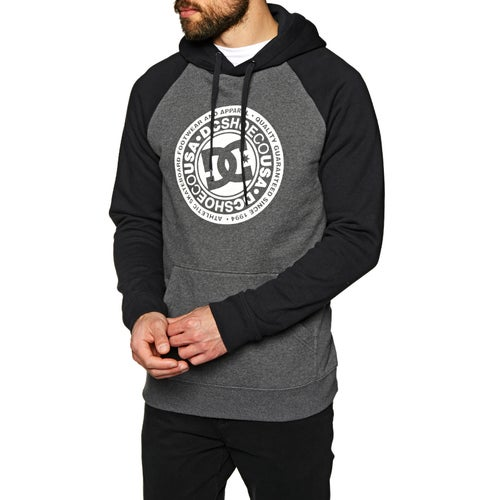 DC Circle Star Raglan Pullover Hoody available from Surfdome afbced62d8