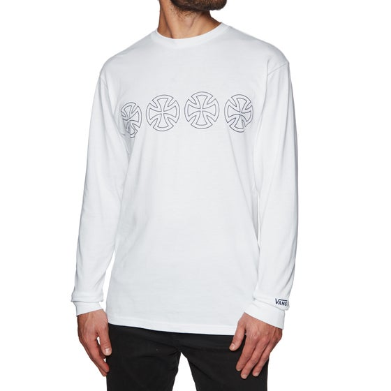 c46d93cc87399b Vans X Independent Iron Cross Long Sleeve T-Shirt - White