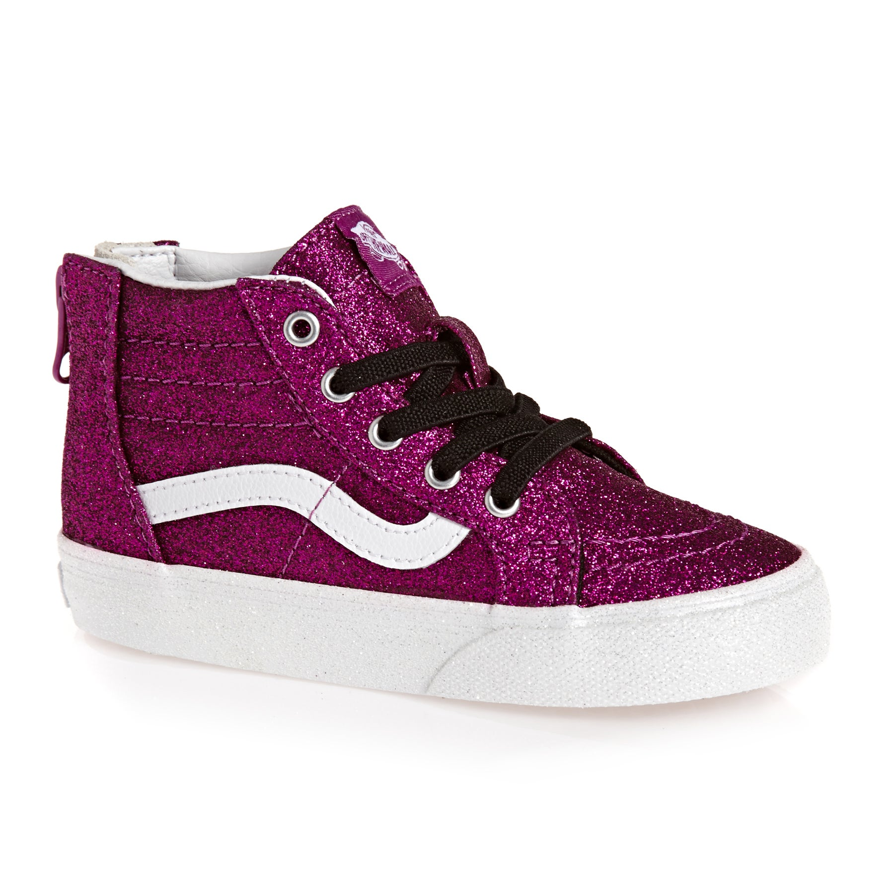 b616367ab6 Vans Sk8 Hi Zip Glitter Kids Footwear Toddler Trainers - Wild Aster ...