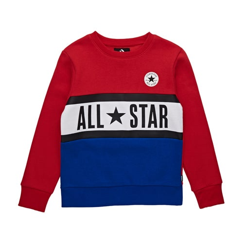 Converse All Star Panelled Crew Kids Sweater available from Surfdome a55171949696