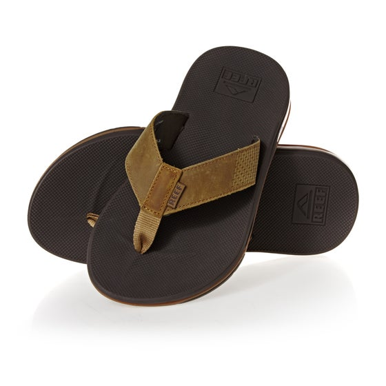 000473c3ca1a Reef. Reef Leather Fanning Low Sandals - Brown