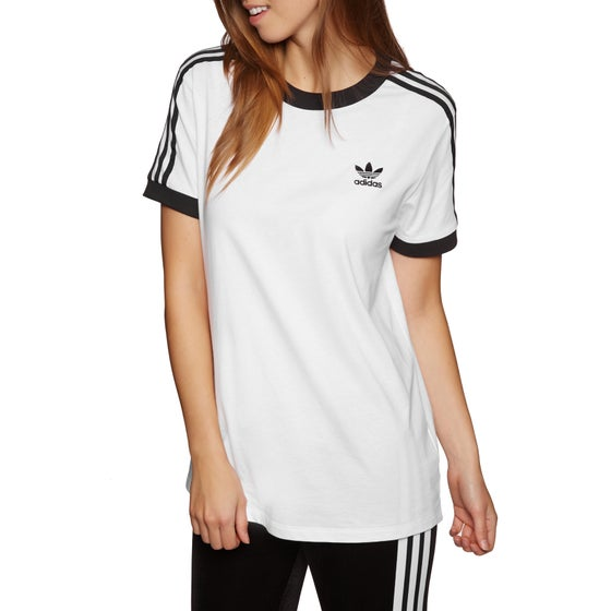 c3d6ab634d46f4 Adidas Originals. Adidas Originals 3 Stripe Womens Short Sleeve T-Shirt ...