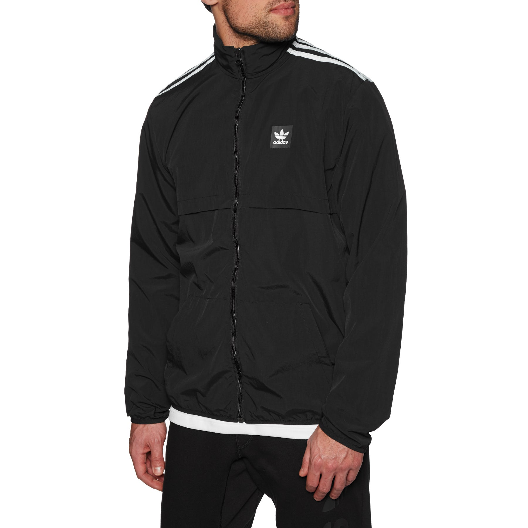 adidas core 11 rain jacket black white