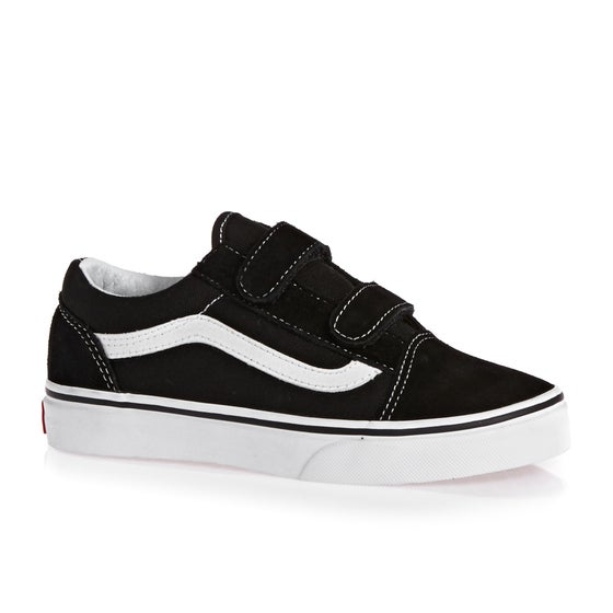 bb0ec9a09c Vans. Vans Old Skool V Kids Shoes - Black ...