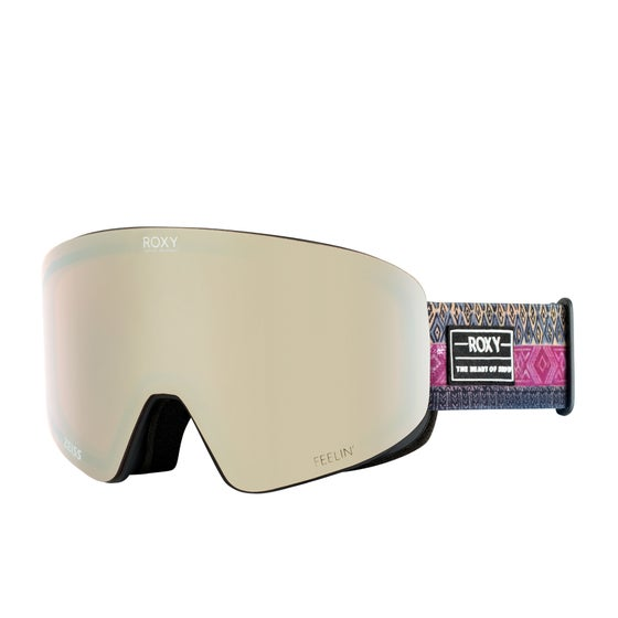 ddaa53c9a46 Gafas de nieve Mujer Roxy Feelin - True Black Wild Ethnic