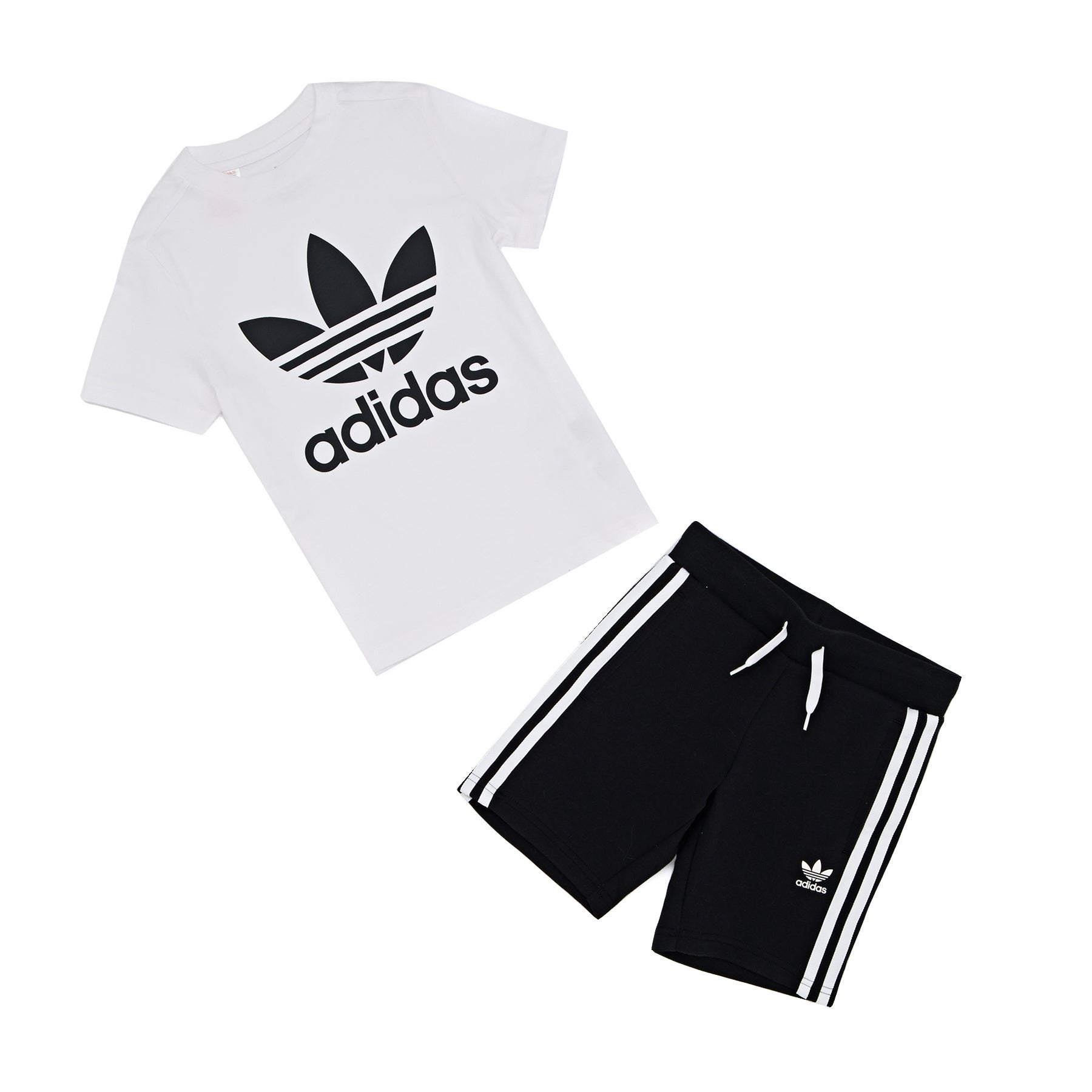 aba9f6b4d Adidas Originals Short Set With Kids T-shirt - White Back All Sizes ...