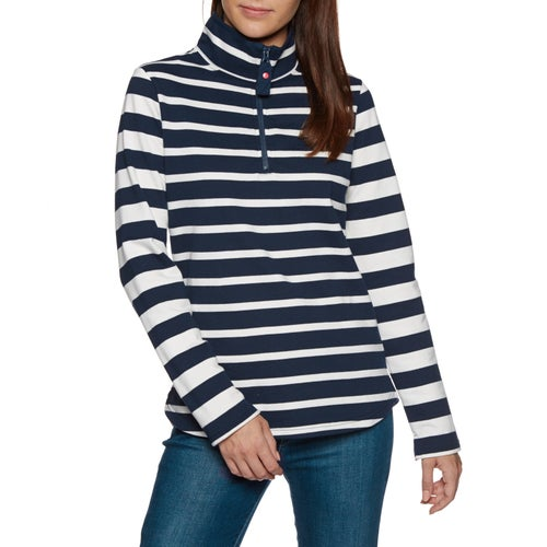 Joules Fairdale Half Zip Womens Sweater - French Navy Stripe