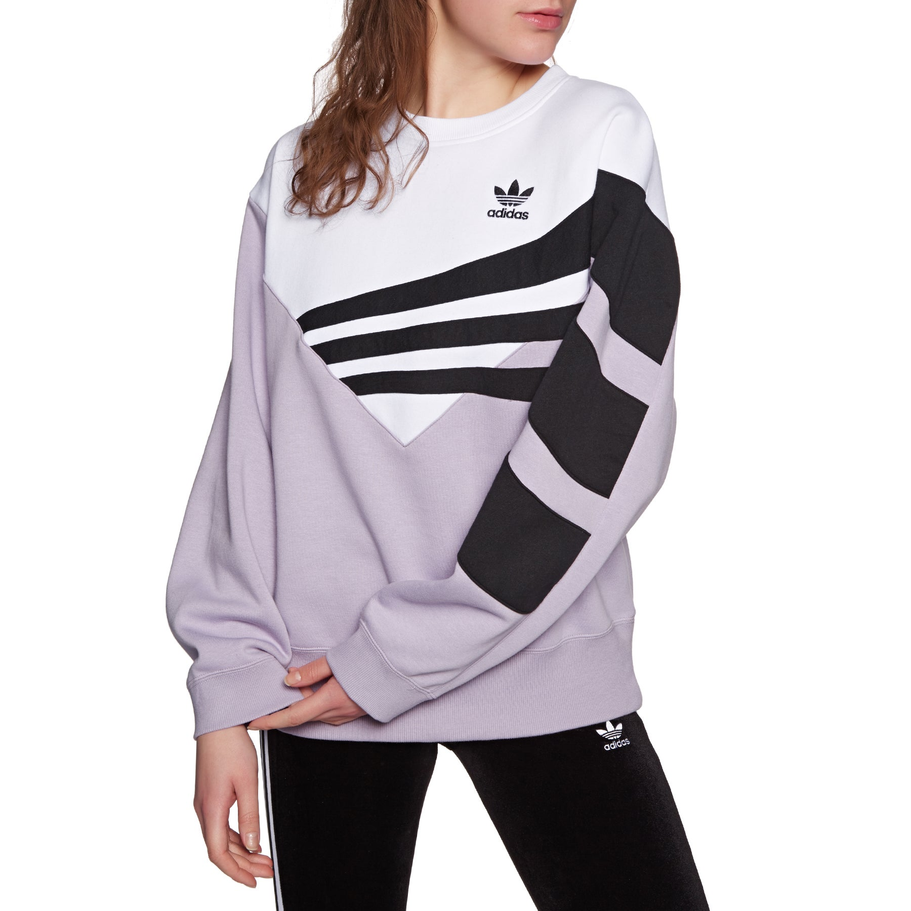 a654f4e397 Adidas Originals Adi Womens Jumper - Soft Vision White Black All ...