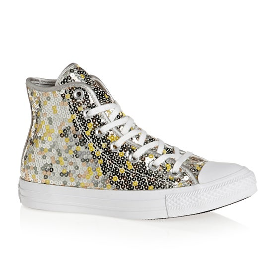 Converse. Converse Chuck Taylor All Star Hi Womens Shoes - Pure Silver Gold  White 1c3322f7f