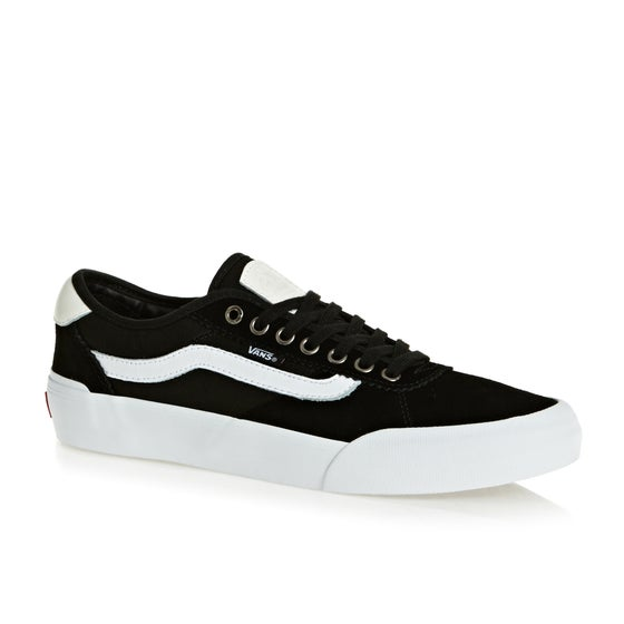 052ea489612329 Vans Chima Pro 2 Shoes - Suede Canvas Black White