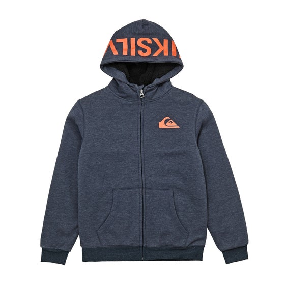 988d584db25605 Quiksilver. Quiksilver Best Wave Sherpa Boys Zip Hoody - Navy Blazer Heather