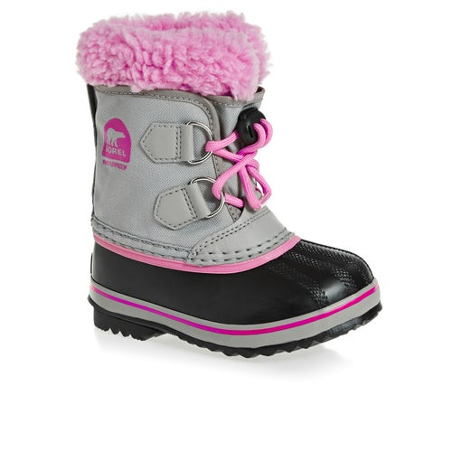 Sorel Childrens Pack Nylon Kids Boots - Chromegrey, Orchid