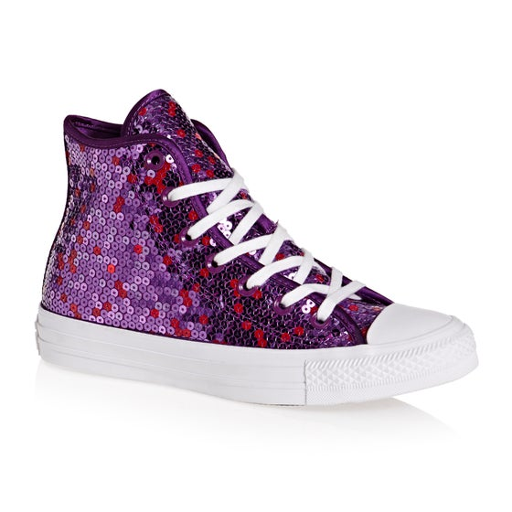 5349c66d79ea Converse. Converse Chuck Taylor All Star Hi Womens Shoes - Icon Violet  Purple White