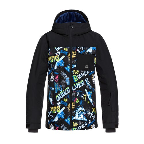 9d8e179fd5 Quiksilver Mission Block Kids Snow Jacket available from Surfdome