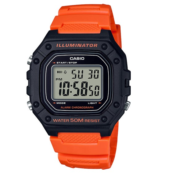7b894df60ca Relógio Casio W-218h-4b2vef - Red Orange