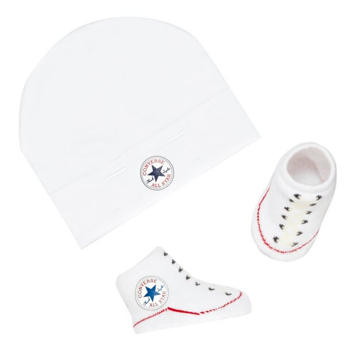 Converse Classic Booties And Hat Gift Pack Kids Baby Shoes - Free ... dc9126ebd11b