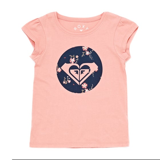 0774be6cf7ff1 Camiseta de manga corta Girls Roxy Moid Flowers - Coral Almond