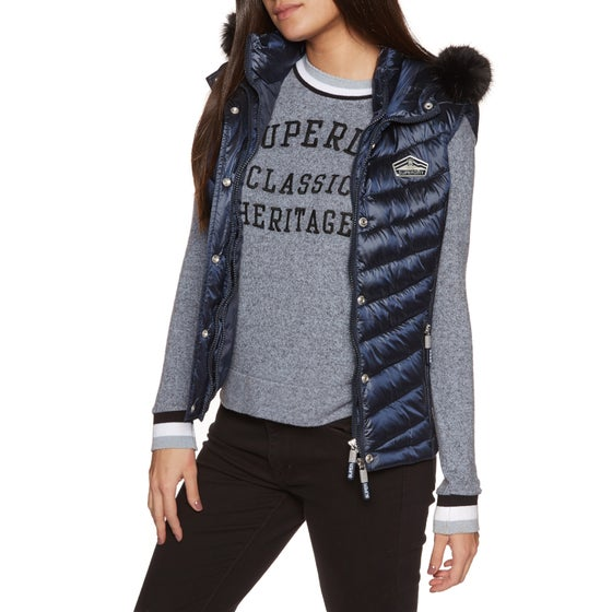 cfa50e9f80 Superdry. Superdry Luxe Chevron Double Zip Womens Body Warmer ...