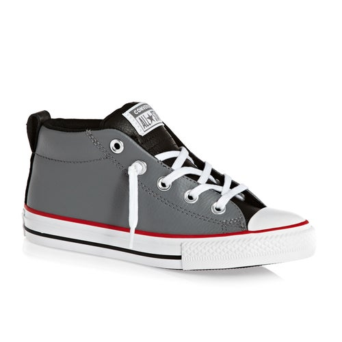 11c3ddc502494d Converse Chuck Taylor All Star Leather Street Mid Kids Shoes ...