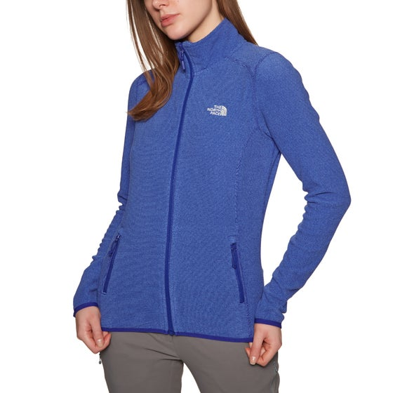 a06adca2d9 The North Face. North Face 100 Glacier Full Zip Womens Fleece - Lapis Blue  Stripe