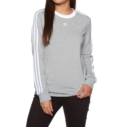 30dbe08922d Adidas Originals 3 Stripes Womens Long Sleeve T-Shirt available ...