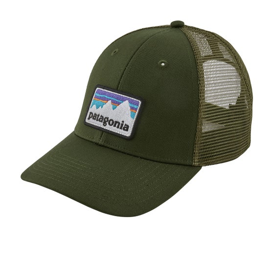 4ff18b996d6 Patagonia Shop Sticker Patch Lopro Trucker Cap - Nomad Green